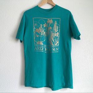 Vintage Gold Leaf Arizona Sun Large Hanes T-shirt